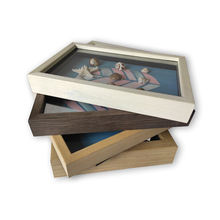 custom wood craft picture box frame photo 3d shadow specimens box frame whole
