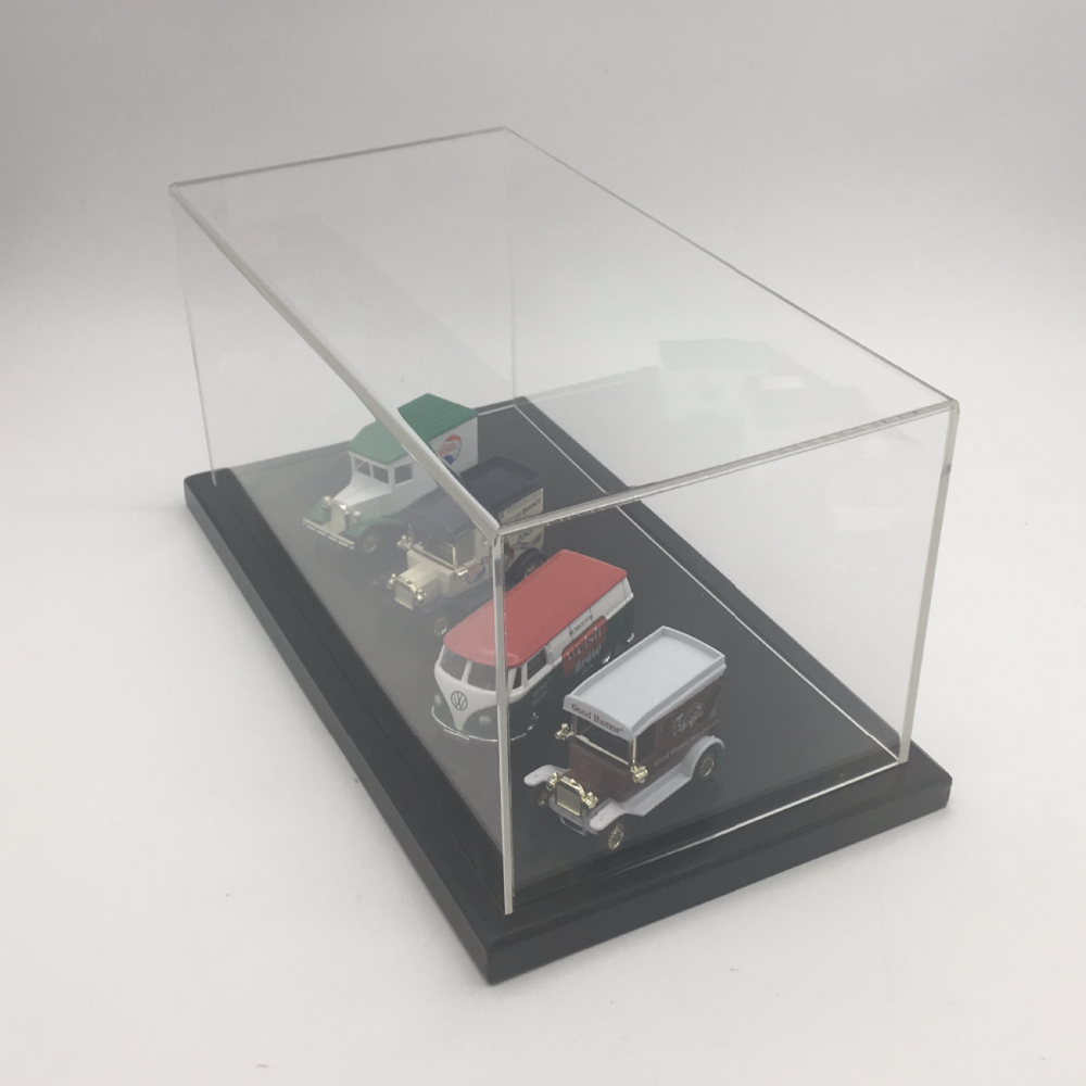 Hot Wheels and ETC  1//64 SCALE CYRSTAL CLEAR DISPLAY CASES 6 PACK /& BACKGROUND