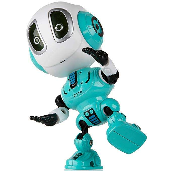 Mini Talking Robot Toy for Kid Bright LED Toys Interactive Voice Changer Robot Travel Toys