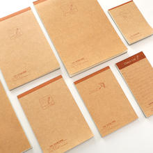 Wholesale stationery cheap recycled memo pad kraft paper notepad