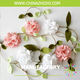 marriage decoration artificial flower garland decor wedding felt flower garland