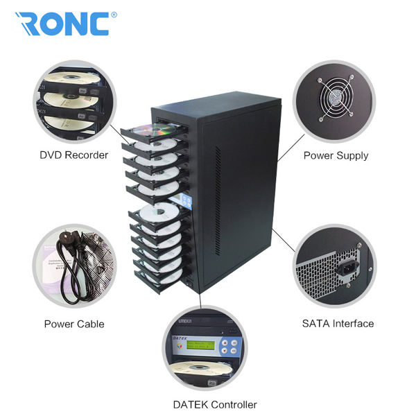 Automatic 1 to 11 cd dvd duplicator machine with cheap price