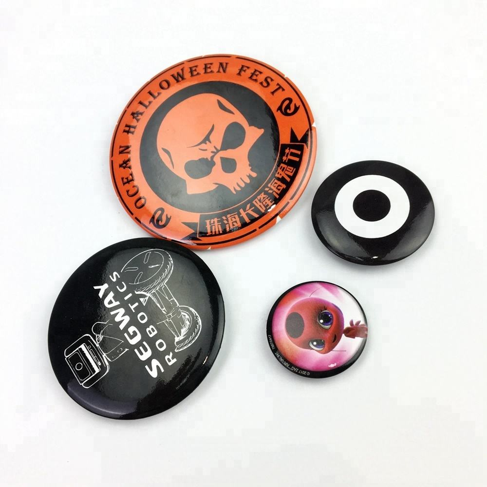 garment accessories custom high quality hot selling cheap button badge
