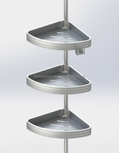 Aluminium tension pole caddy and Aluminium tension shower caddy and bathtub and Shower Tension Corner Caddy