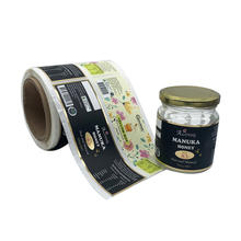 Personalise Food Label Printing Roll Honey Bottle Label Sticker