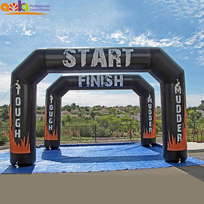 Hot selling tyre shape inflatable gate / inflatable arch start finish for event