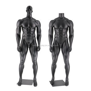 Muscle Man Athletic Uomo Nero Full Body Mannequin