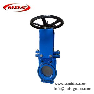 ductile cast iron pneumatic knife gate valve PN10