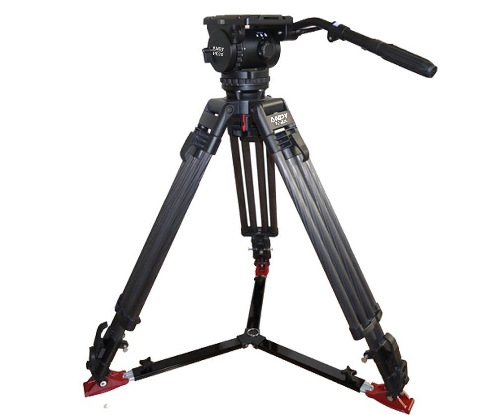 professional video camera tripod&head with spreader 3kgs-50kgs payload