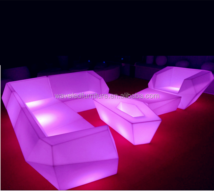 wholesale illuminated led sofa set with 16 colors changing furniture chair