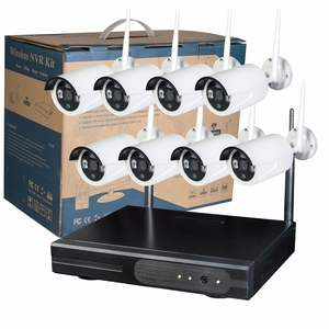 Wireless NVR Kit 8 Channel Remote Monitoring Complete CCTV Set 1080P NVR Kit With 8 Surveillance Wireless Cameras System