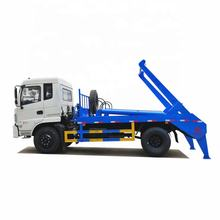Dongfeng cheap price 8cbm 10cbm skip loader waste hydraulic arm garbage truck