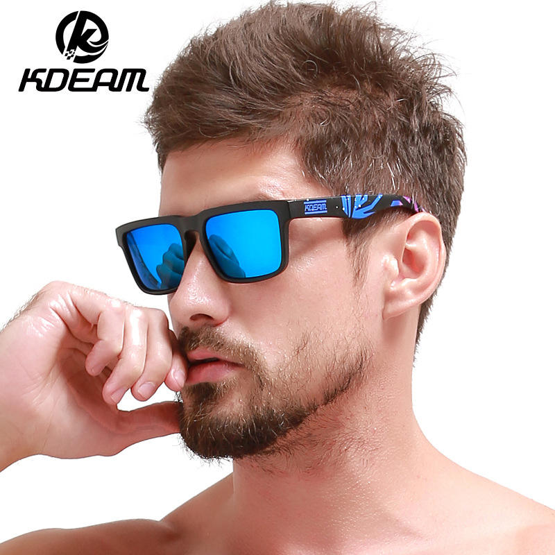 Kdeam 1751 CE UV400 Men Torege Branded Sports Polarized Sunglasses New 2019