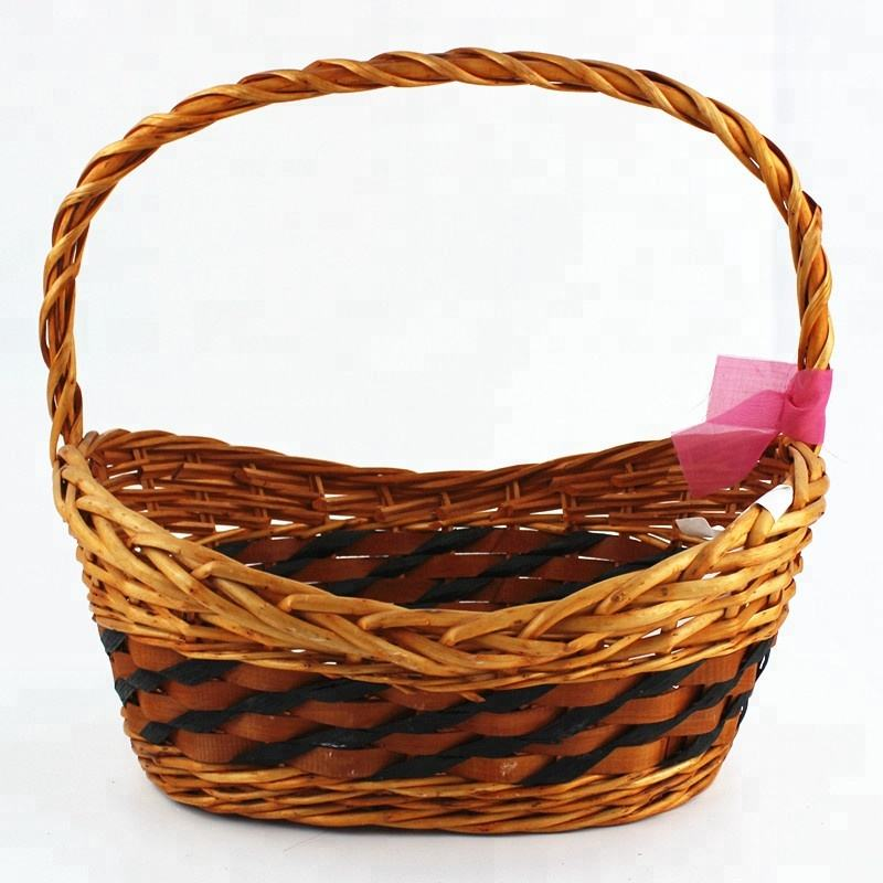 handmade golden shape willow baskets for gifts