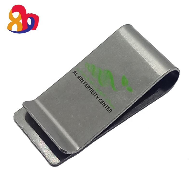 Wholesale Custom national sector appropriative Small Wallet stainless steel Metal Money clip with custom logo
