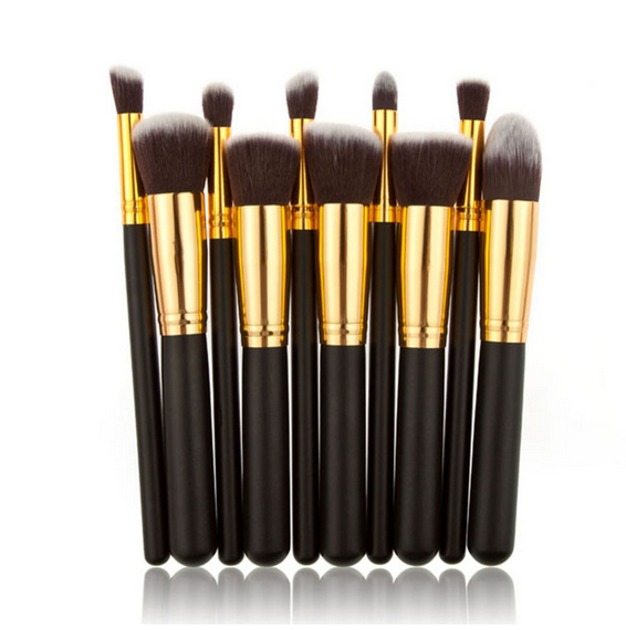 Multicolor Wholesale 10Pcs Kabuki Professional Makeup Brush Set