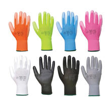 En388 4131 White Black Guantes de Trabajo Palm Coated Nylon PU Gloves Polyurethane Palm Fit Safety Glove Work Gloves