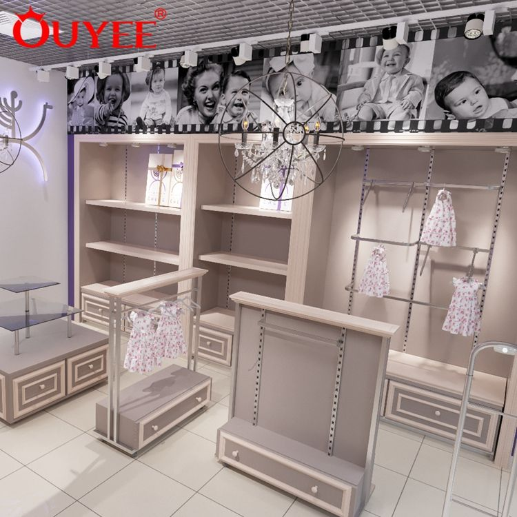 Kids Garment Shop Interior Design With Clothing Display