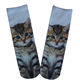 Polyester cat design women tube sublimation socks with dog design