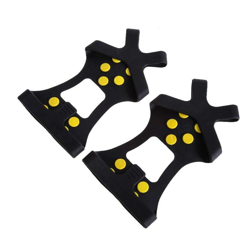 Professional 10 Studs Universal Ice Snow shoe Spiked Grip anti slip Cleats Crampons