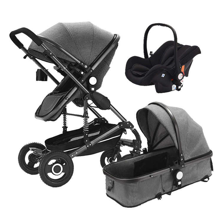Wholesale aluminum infant Egg Shape Baby stroller 3 in 1 travel systems