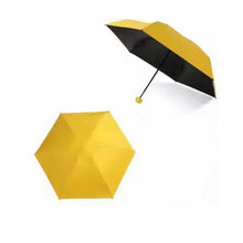5 fold new invention portable sun umbrella with a capsule case