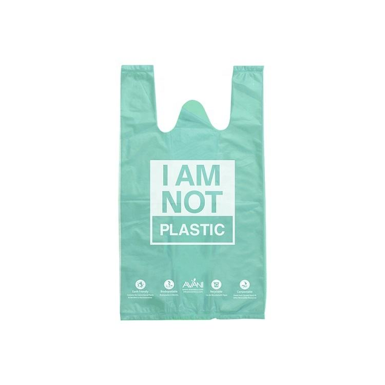 Reusable recyclable eco friendly raw material 100 bolsas biodegradable compostable cassava based eco i'm not plastic bag