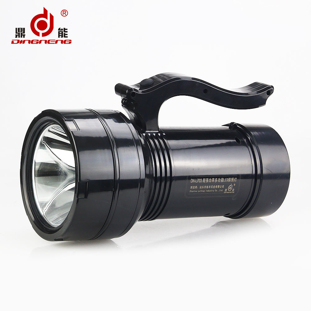 Factory supply power light led torch searchlight with battery for 2016