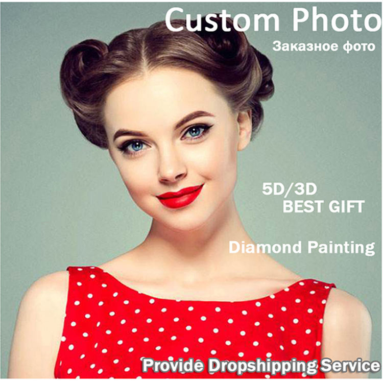 5D DIY Photo Custom! Private custom! Diamond Painting Your Own Diamond Painting Full Square Rhinestone Embroidery