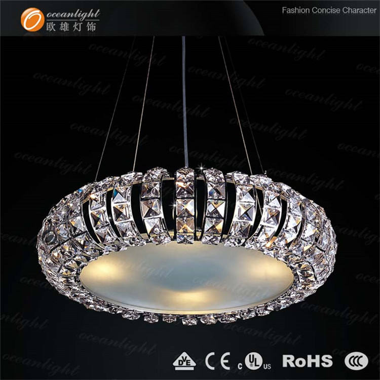 modern design crystal chandelier round irregular pendent light
