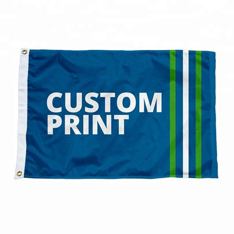 Yiwu manufacturers personaliazed size and logo high quality polyester flag custom