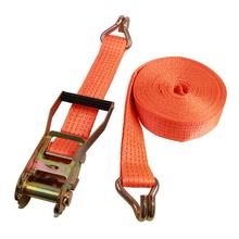 50mm 27ft 10000lbs heavy duty truck polyester ratchet tension cargo lashing belt tie down strap with wire hooks