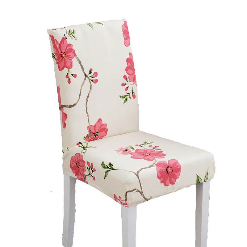 Printing cheap elastic dining decorative chair cover