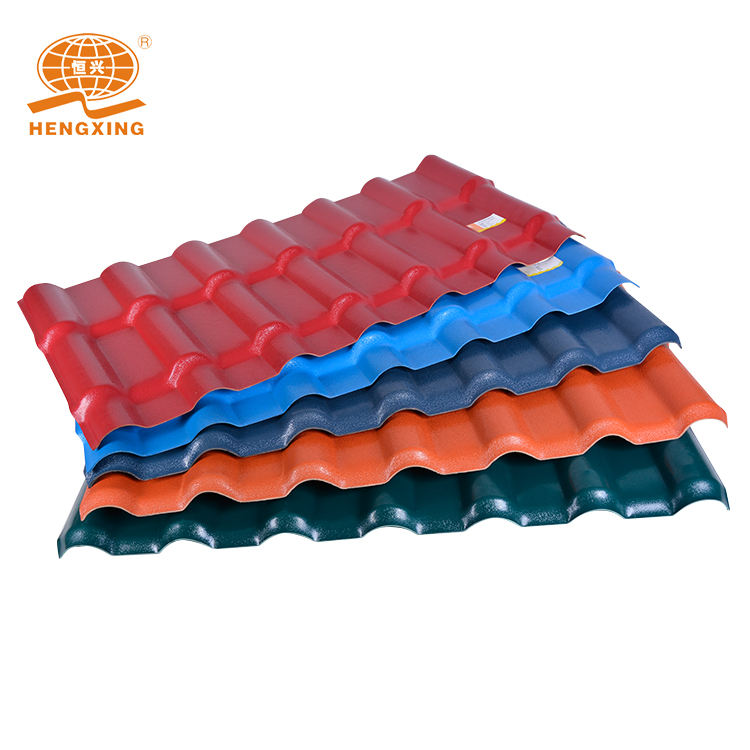Cheap price excellent weather resistant performance spanish synthetic resin tile