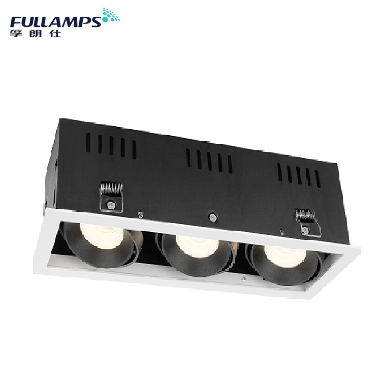 ceiling recessed square led downlight 3*7w 3*10w led grille lights