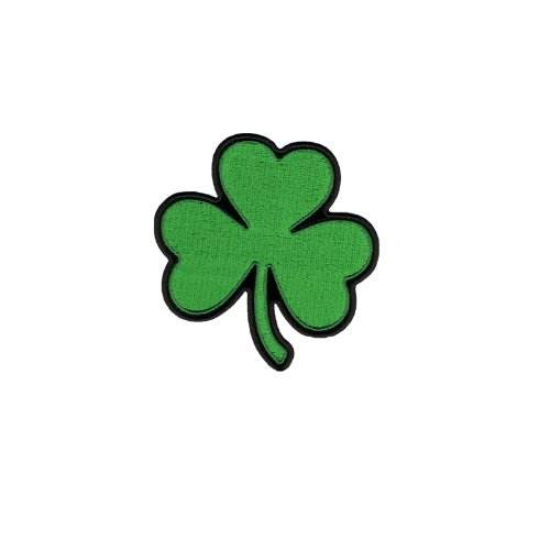 Small Four Leaf Clover - Lucky Irish Shamrock - Embroidered Iron On or Sew On Patches