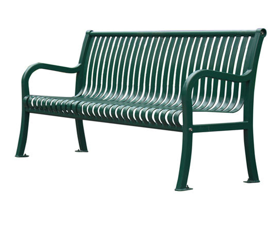 Outdoor furniture metal sitting bench with cast iron legs garden thermoplastic steel bench seat patio school leisure chair