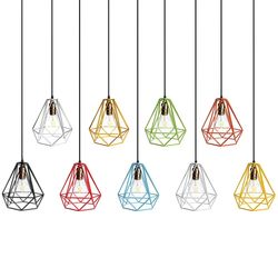 Lampshade Modern Lamp Cover Loft Industrial Edison Metal Wire Frame Ceiling Pendant Hanging Light Lamp Cage Fixture