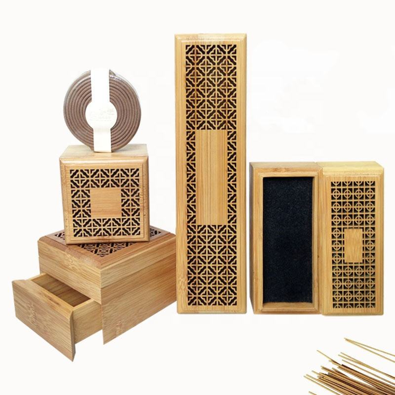 bamboo incense burner for incense coil and oud stick
