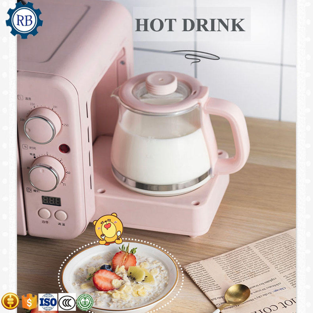 Manufacture Home breakfast making machine(coffee maker,toaster maker,Fried Egg maker) 3 in 1 breakfast maker machine