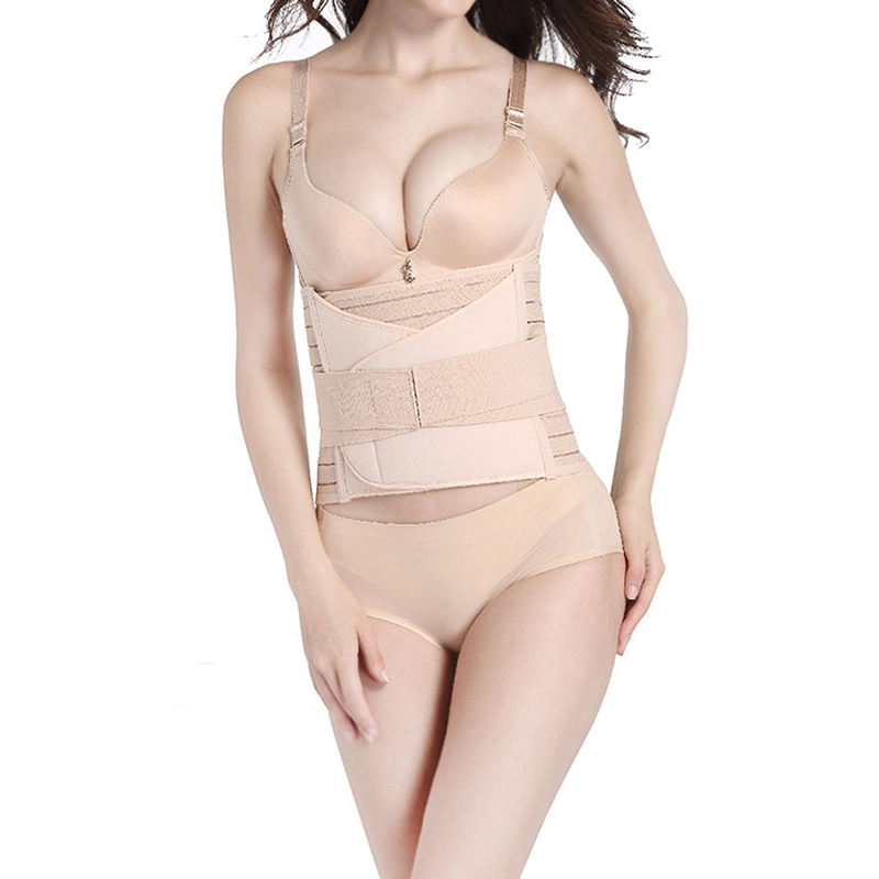 Comfortable postpartum abdomen waist and breathable pelvic 3 in 1 belly belt support