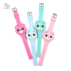 Fashion RFID Led Watches Candy Color Silicone Rubber Digital Button Watches For Children