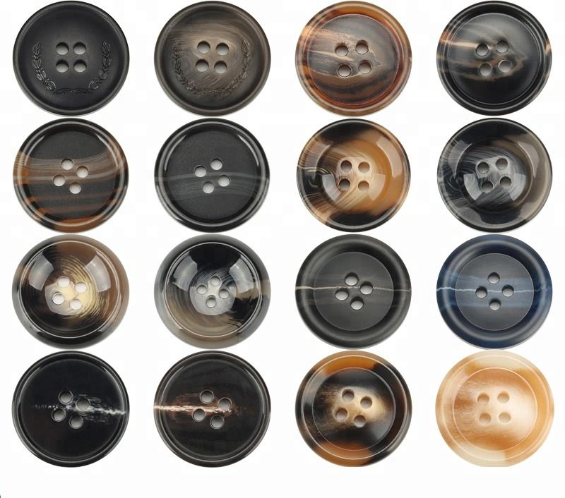 Hot Sale Resin Plastic Buttons 4穴/25ミリメートルRound ButtonためCraft Sewing Clothing Coat T-Shirt DIY Accessory
