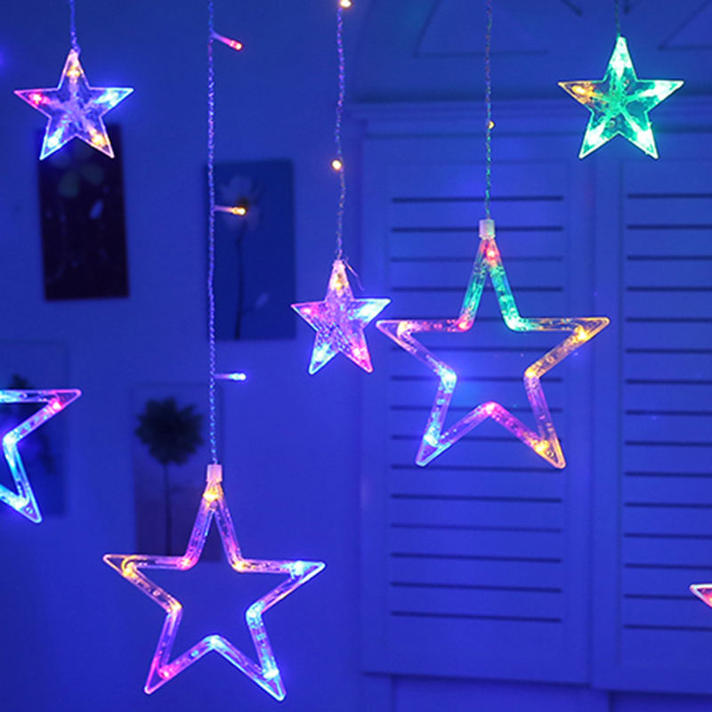 Twinkle Star LED Curtain String Lights, Window Lights Decoration for Christmas holiday time outdoor waterproof