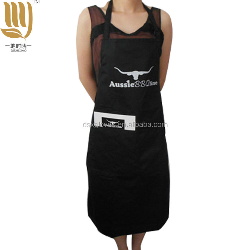 Twill BBQ Apron Wholesale Grill Apron Black Men's Apron for Cooking