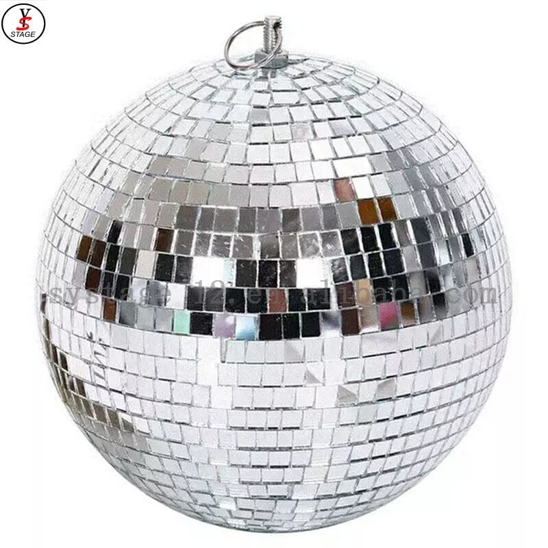 gold Sliver Mirror Disco Dance Party DJ Ball Mirrored Glass stage light