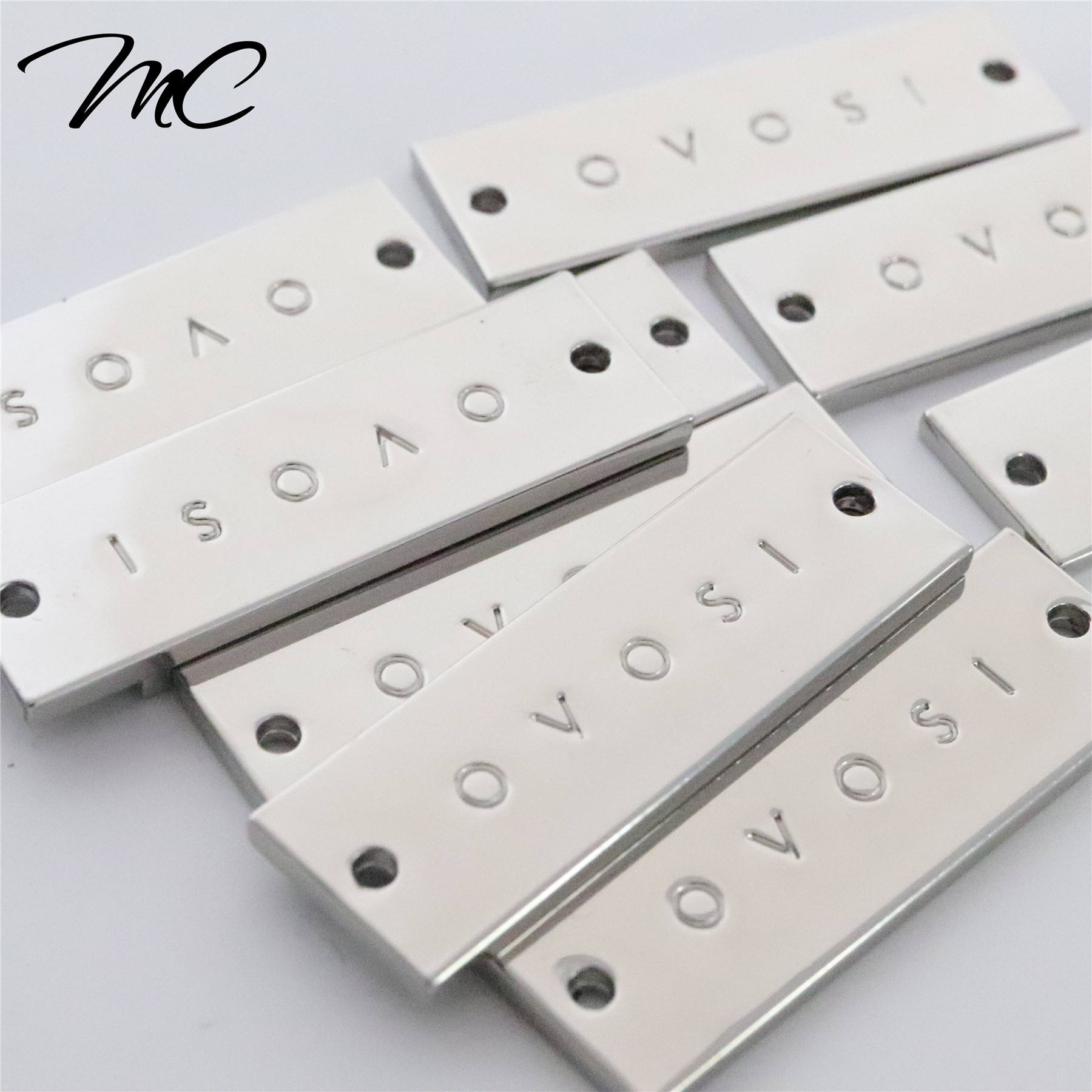 High Quality Custom Stainless Steel Metal Labels Tags For Clothing/Handbag/Swimwear/Jeans Patch