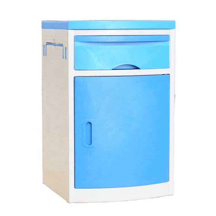 High quality ABS patient bedside locker in hospital medical bedside cabinet with table