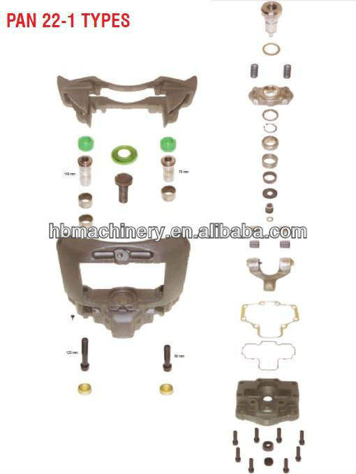 Wabco 22-1 pan pinza freno kit