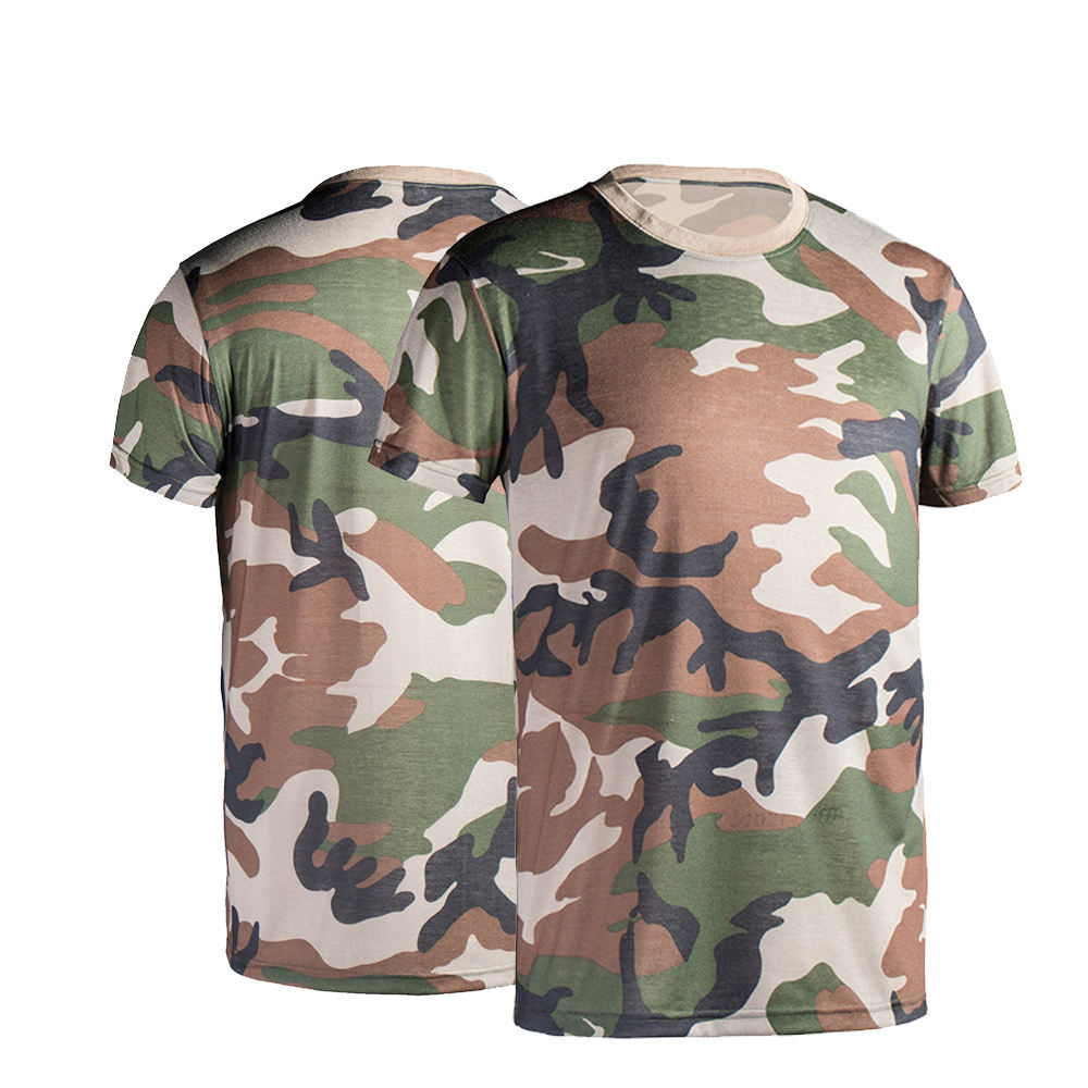 Custom Military Style Camouflage Dress Shirts for Men